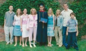 Bethel grad with family 2005